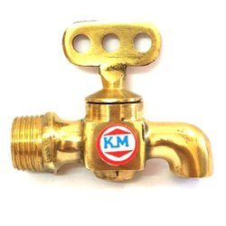 Golden KM Brass Taper Water Tap, For Bathroom Fitting, Size: 15 Mm