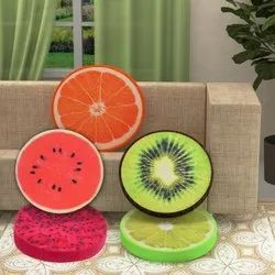 Fruits 13 Inch Round Fruit Cushion, For Home