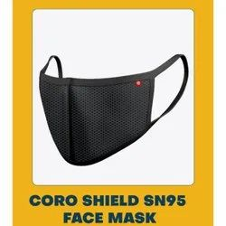 CORO Shield Cotton/polyester Blend S N95 Face Mask, For Anti Polution, Number of Layers: 3