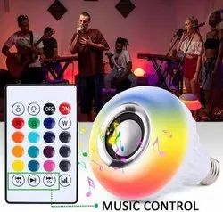 Round 12 W LED BULB WITH BLUETOOTH SPEAKER MUSIC LIGHT BULB, For Home