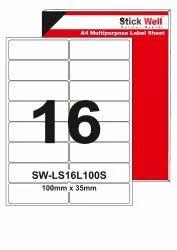 A4 LABEL SHEET LS01G ( 100mm X 35mm ) STICKWELL