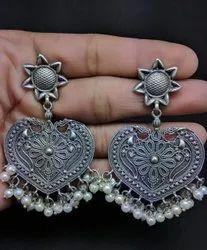 Heart Shape Hanging Earrings