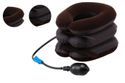 Household Inflatable Neck Traction Device 3-layer Head Support Pillow - Brown