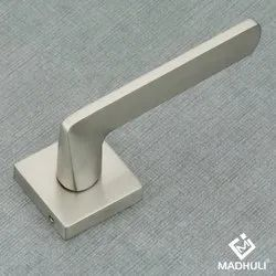 Square Satin Polished Bathroom Door Handle-03