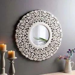 White mdf mirror frame, Size/Dimension: 24x24 Inch