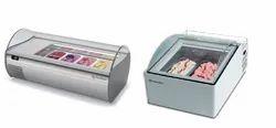 Ice Cream Display Freezer Countertop