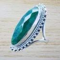 925 Sterling Silver Jewelry Cabochon Ruby Gemstone Rings