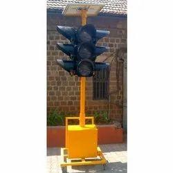 Portable Solar LED Traffic Signal Light
