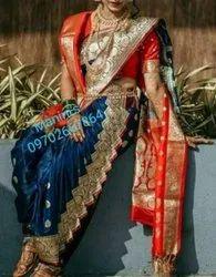 MANINI\'S Nauvari Rajlaxmi Bridal Nauvari Readymade Saree