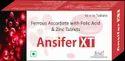 Ansifer Xt , Ferrous Ascorbate With Folic Acid & Zinc Tablets, 10 X 10, Strip