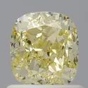 Cushion 1ct SI1 Fancy Yellow GIA Certified Natural Diamond