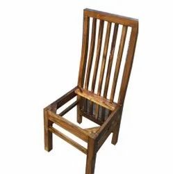 Brown Wooden Dining Chair, For Home, Size: H:40 Inchxl:12 Inch