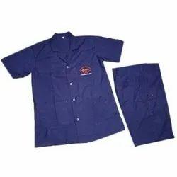 Om Fabrics Blue Sweeper Dress, For Hospital