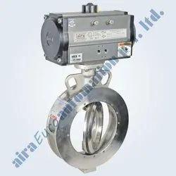 Pneumatic Double Eccentric Off Set Disc Wafer Type Butterfly Valve