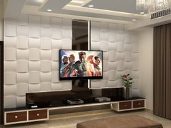 Glass Modular Tv Wall Unit