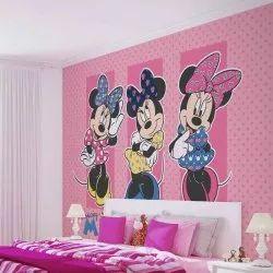Micky Mouse kids bedroom wallpaper