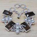 Rainbow Moonstone 925 Sterling Silver Jewelry Bracelet SJWBR-240