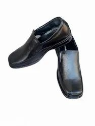 Plain Formal Pump Attendant Black Shoe, Size: 7