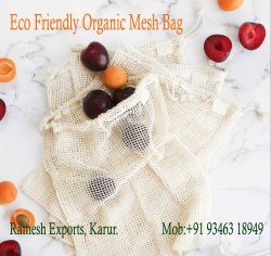 100% Organic Cotton Muslin Bags