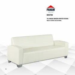 Panam White Boston Three Seater Sofa 6 feet, 5 Inch