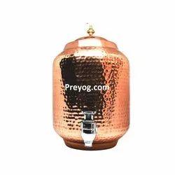 Preyog Hammered Copper Water Dispenser Pot 5L for Home