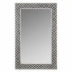 Modern Black Bone Inlay Mirror Frame