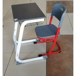 For School,College Polyester Study Table With Chair