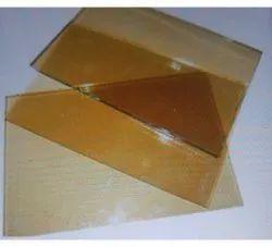 Plain Light Gold Reflective Glass, Size: 2x3 Feet