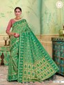 Present Best Selling Kanjivaram Saree With Attractive Blouse Piece