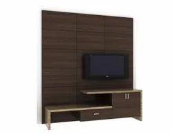 ARR Brown Living Room Tv Cabinet, For Hotel