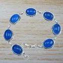 925 Sterling Silver Jewelry Handmade Druzy Stone Bracelet