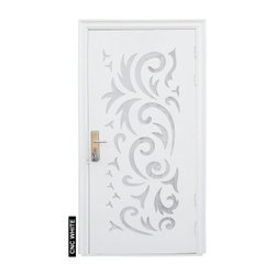 CNC White Royal Steel Door