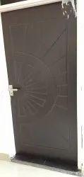 Brown Membrane Doors With Design, Door Thickness: 32mm