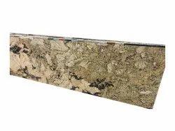 Indian Marble Polished Finish Alaska Gold Granite Slab, Thickness: 16-18 mm