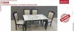 MOBEL FURNITURE Marble Top Dining Table Set , EMIR