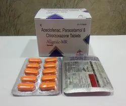 Aceclofenac 100mg Para325mg  Chlorzoxazone 250mg Tablet