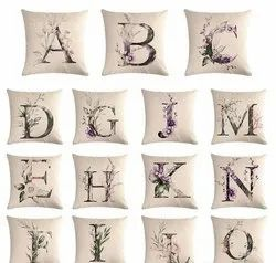 Alphabetical Printed Cushion Cover