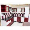 L Shape Acrylic Modular Kitchen