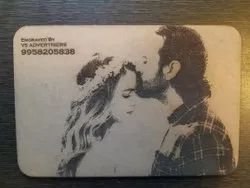 mdf Brown Photo Engraving On Wood, For Gift Decoration, Size: 6x8 Inch