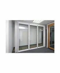 Powder Coated Aluminium Partition Door, For Office, Thickness: 3mm