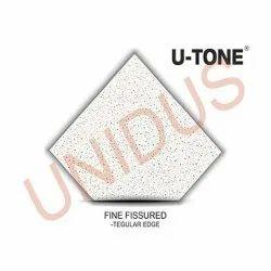 Fine Fissured 12mm Square Acoustic Mineral Fiber Ceiling Tiles
