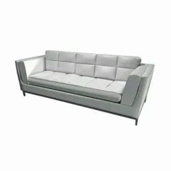 Modern White Leather Sofa Couch