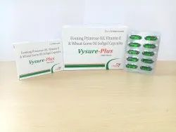 Evening Primrose Oil & Wheat Germ Oil Softgel Capsules, For Food, Packaging Size: 10x1x10