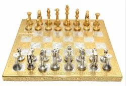 Brass Craft Chess Set  Antique Gold & Silver Finish