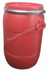 Mangla Metal Red Plastic Drum, For Water Storage, Capacity: 50 Ltr