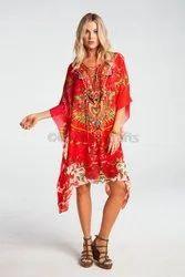 Printed Short Kaftan Dress