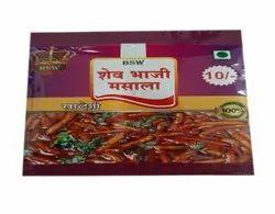 BSW 10 Gram Shev Bhaji Masala Powder, Packaging Type: Packets