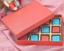 SE-CHCOLATE-001 Cardboard Chocolate Boxes, For Gift & Crafts, Size: 7.5x6x1-12 Cavity