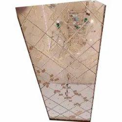 Designer Ceiling Glass, Thickness: 6 Mm