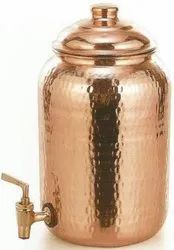 Hammered Copper Water Pot, For Home